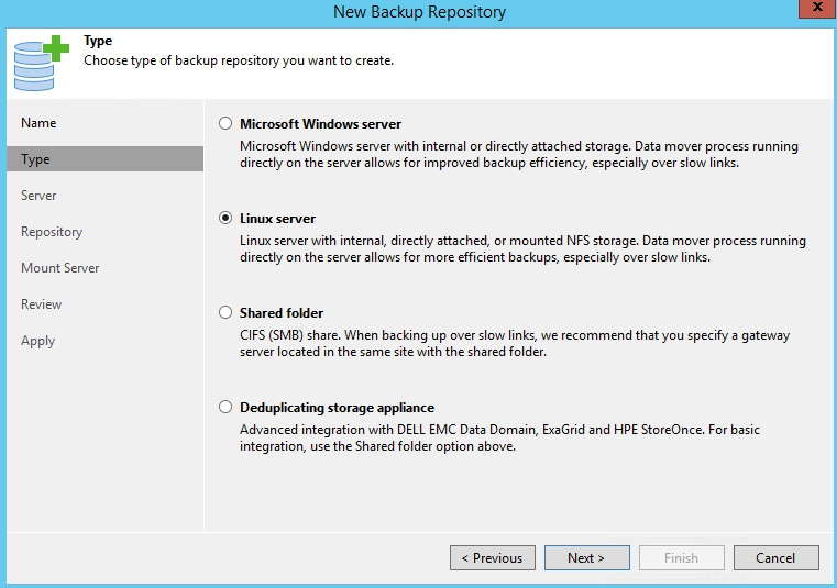 Veeam Linux Repository
